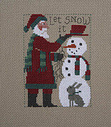 2018 Schooler Santa - Cross Stitch Pattern