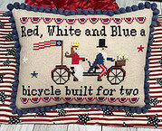 Bicycle Built for 2 - Cross Stitch Pattern