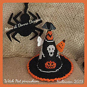 Witch Hat Pincushion - Cross Stitch Pattern