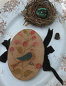 Feathered Nest Pin Book - Cross Stitch Pattern