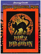 Happy Halloween Moon - Cross Stitch Pattern