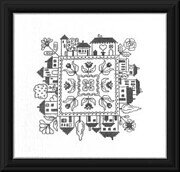 Jardin De Maisons - Cross Stitch Pattern