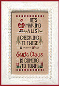 Santa's List - Cross Stitch Pattern