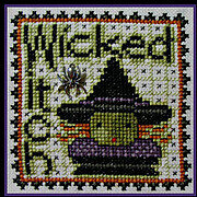 Wicked Witch (with charm) - Cross Stitch Pattern