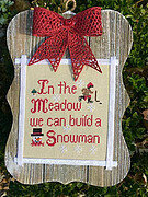 Build a Snowman - Cross Stitch Pattern