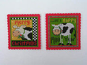 Two Merry Moos - Cross Stitch Kit