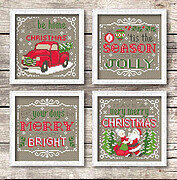 Christmas Signs - Cross Stitch Pattern