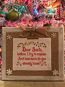 Dear Santa - Cross Stitch Pattern