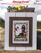 Spring Welcome Lighthouse - Cross Stitch Pattern