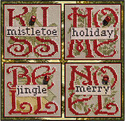 4 Christmas (with bells) - Cross Stitch Pattern
