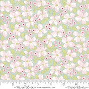 Brenda Riddle Amberley Floral Field Aqua - Fat Quarter