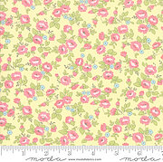 Brenda Riddle Finnegan Floral Yellow - Half Yard