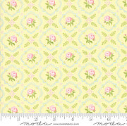 Brenda Riddle Finnegan Trellis Yellow - Fat Quarter