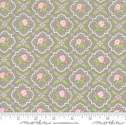 Brenda Riddle Finnegan Trellis Grey - Fat Quarter