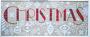 Christmas Red, White and Green - Cross Stitch Pattern