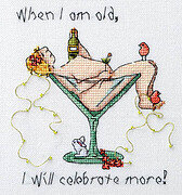 When I am Old I Will Celebrate More - Cross Stitch Pattern