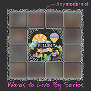 Words to Live By Part 1 - Cross Stitch Pattern