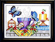 Tea & Butterflies - Cross Stitch Pattern