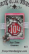 Joy Tree Ornament - Cross Stitch Pattern