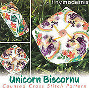 Unicorn Biscornu - March - Cross Stitch Pattern