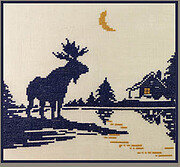 Moose Silhouette 2 - Cross Stitch Pattern