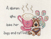 Woman Who Loves Her Dog and Coffee