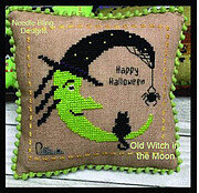 Old Witch in the Moon - Cross Stitch Pattern