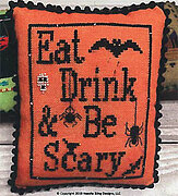 Eat Drink & Be Scary - Cross Stitch Pattern
