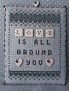 Love - Scrabble 1 (with buttons) - Cross Stitch Pattern