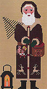 Woodland Santa with Lantern - Cross Stitch Pattern
