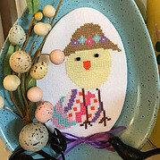 Easter Bonnet Luhu - Cross Stitch Pattern