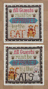 Cat Owner's Welcome - Cross Stitch Pattern