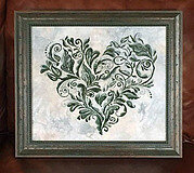 Heart Leaves - Cross Stitch Pattern