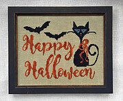 Miss Kitty's Halloween - Cross Stitch Pattern