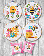 Bees & Honey - Cross Stitch Pattern