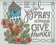 Be Pray Give - Cross Stitch Pattern