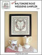 Baltimore Rose Wedding (Revised) - Cross Stitch Pattern