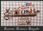 Summer Scissors Sampler - Cross Stitch Pattern