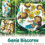 Genie Biscornu - Cross Stitch Pattern
