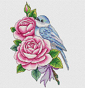 Rose and Bird - Cross Stitch Pattern
