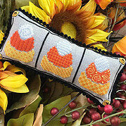 Three Little Candy Corns - Cross Stitch Pattern
