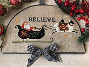 Believe in Santa - Cross Stitch Pattern