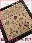 Elizabeth Hunter 1853 - Cross Stitch Pattern