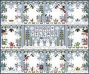 Old Barn and Husky in the Snow is a14,16 and 18 count cross stitch kit with Anchor or Dmc  Threads
