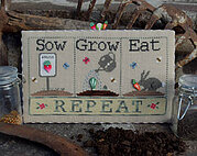 Sow Grow Eat (with buttons) - Cross Stitch Pattern