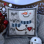 You Warm My Heart(with buttons) - Cross Stitch Pattern