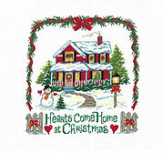 Hearts Come Home at Christmas - Cross Stitch Pattern