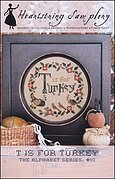 T is for Turkey - Cross Stitch Pattern