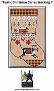 Rustic Christmas Series Stocking I - Cross Stitch Pattern