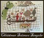 Christmas Scissors Sampler - Cross Stitch Pattern